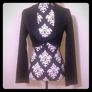 H&M black matador cropped jacket blazer